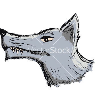 Free cartoon wolf vector - vector gratuit #238993