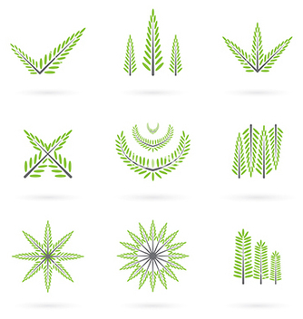 Free green symbol design vector - Free vector #239043
