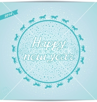 Free happy new year card greeting vector - Kostenloses vector #239243