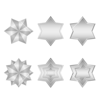 Free silver stars icons vector - Free vector #239253