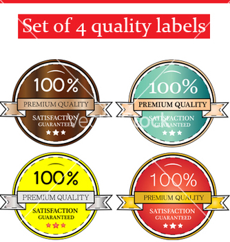 Free quality labels vector - бесплатный vector #239573
