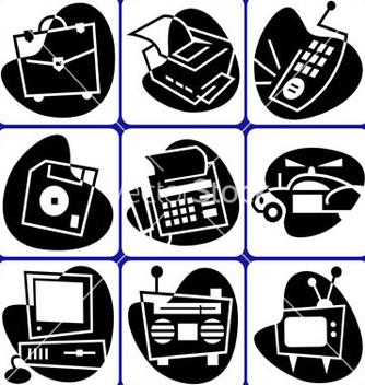 Free retro computer icons vector - Free vector #239623