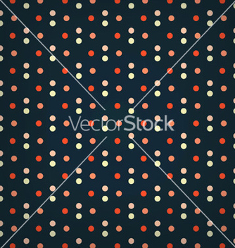 Free dark blue multicolor polka dots seamless pattern vector - Free vector #239643