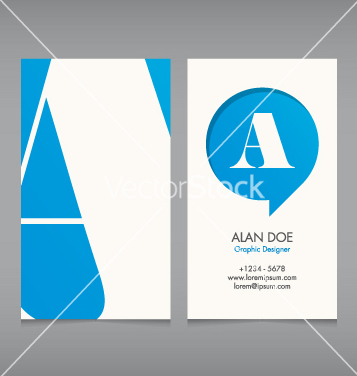 Free business card template letter a vector - vector #239843 gratis