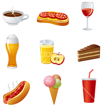 Free food icon set vector - Free vector #240023