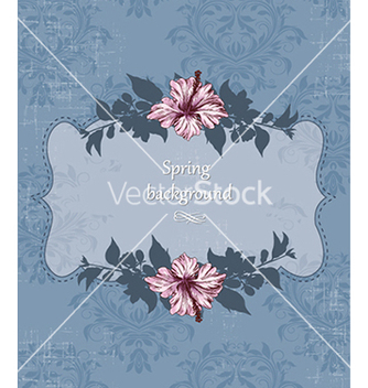 Free floral background vector - Free vector #240083