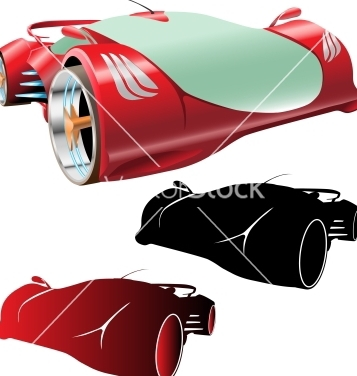 Free supercar concept and silhouettes vector - vector #240183 gratis