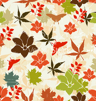 Free seamless floral background vector - Free vector #240623