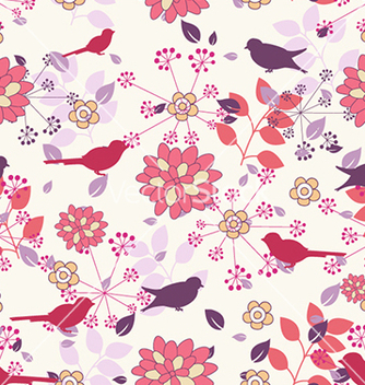 Free seamless floral background vector - Free vector #240673