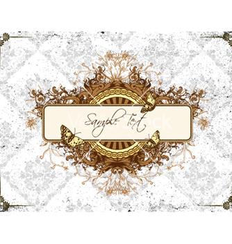 Free vintage floral frame vector - Kostenloses vector #240753
