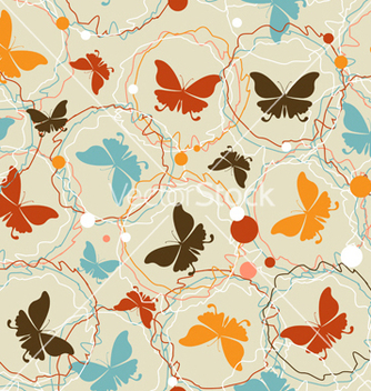 Free colorful butterfly seamless pattern vector - Free vector #240793