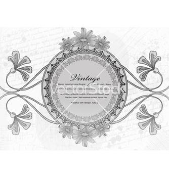 Free vintage floral frame vector - Kostenloses vector #240803