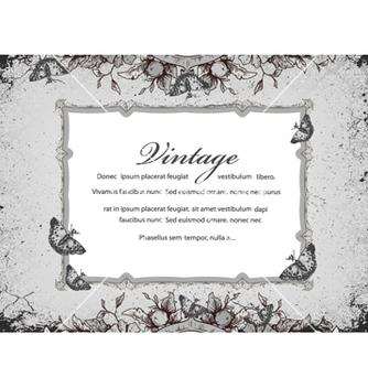 Free vintage floral frame vector - Kostenloses vector #240863