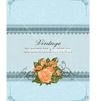 Free vintage floral frame vector - Kostenloses vector #240893