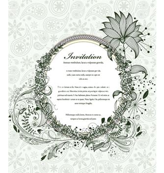 Free vintage floral frame vector - Kostenloses vector #240913