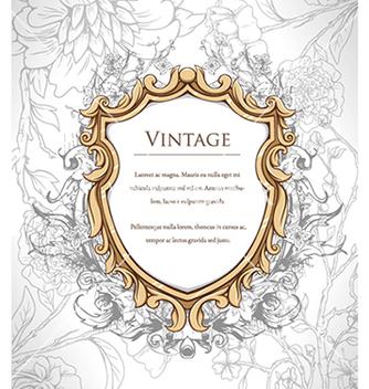 Free vintage floral frame vector - Free vector #240963
