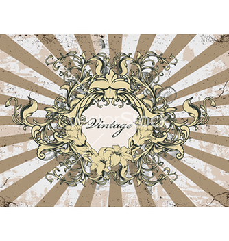 Free vintage floral frame vector - Kostenloses vector #240973
