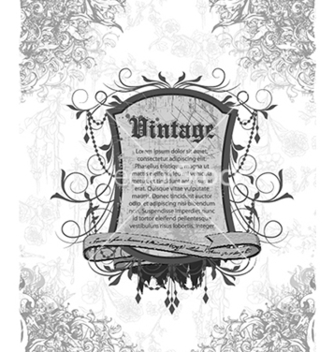 Free vintage frame with floral vector - Kostenloses vector #240993