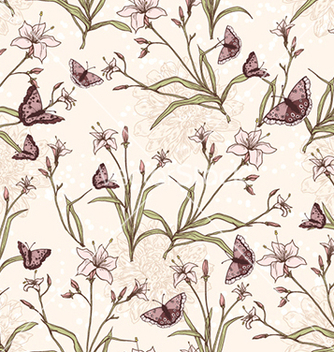 Free seamless floral background vector - Kostenloses vector #241003
