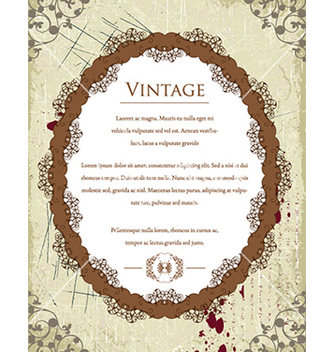 Free vintage frame with floral vector - Free vector #241033
