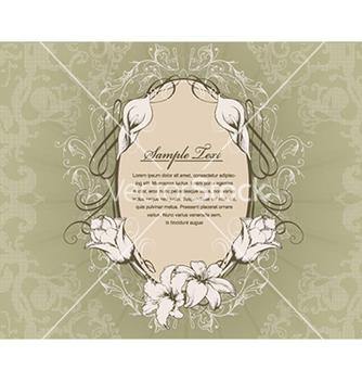 Free vintage floral frame vector - Kostenloses vector #241073