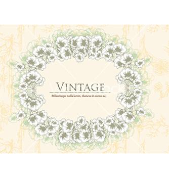 Free vintage floral frame vector - Free vector #241113