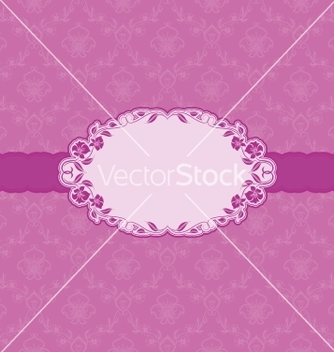 Free template frame design for greeting card vector - Free vector #241193