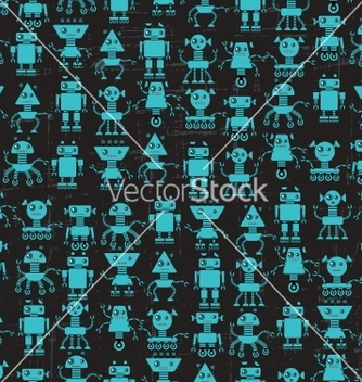 Free cartoon robots seamless pattern vector - Kostenloses vector #241633