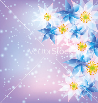 Free abstract background with flowers vector - Free vector #241833
