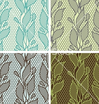 Free set of lace seamless patterns with abstact flowers vector - Free vector #242183