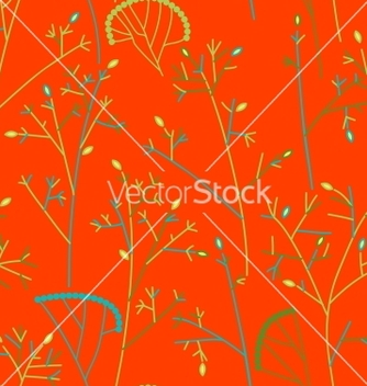 Free seamless pattern with trees and branches vector - vector #242263 gratis