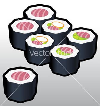 Free teka makki sushi vector - Free vector #242293