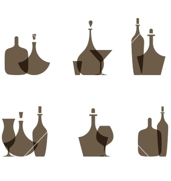 Free glass bottle icons vector - Free vector #242423
