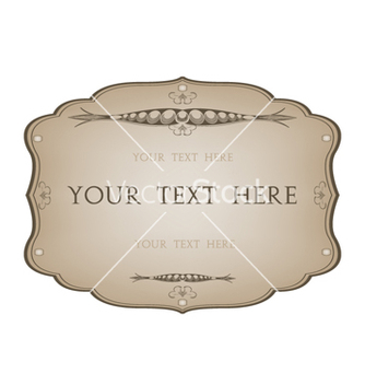 Free vintage label vector - бесплатный vector #242433