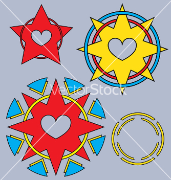 Free tribal hearts vector - Free vector #242463