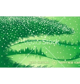 Free green christmas winter forest vector - vector gratuit #242483