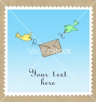 Free birds delivering mail vector - Free vector #242543