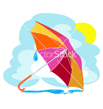 Free color umbrella vector - vector gratuit #242623