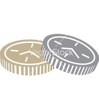 Free coins with clock face vector - vector #242693 gratis