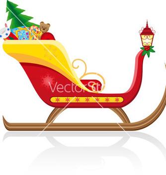 Free christmas santa sleigh 01 vector - vector #242713 gratis