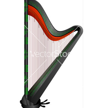 Free fantasy gothic harp vector - vector gratuit #242733