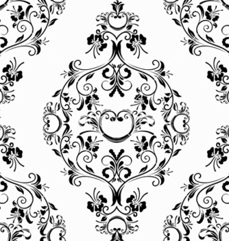 Free damask seamless pattern vector - Free vector #242753