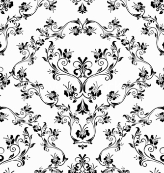 Free damask seamless pattern vector - Free vector #242763