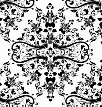 Free damask seamless pattern vector - Free vector #242883