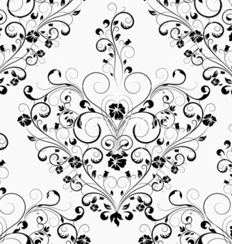 Free damask seamless pattern vector - Free vector #242913