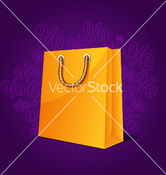 Free shopping paper bag empty sale vector - Free vector #243063