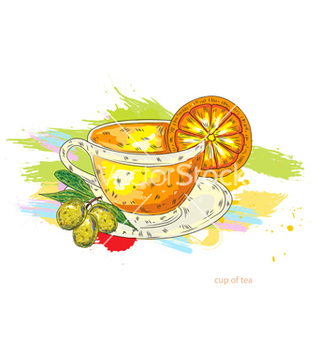 Free cup of tea vector - бесплатный vector #243243