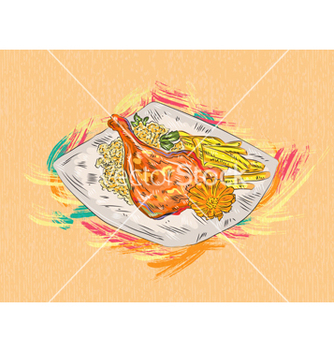 Free cooked food vector - Kostenloses vector #243293