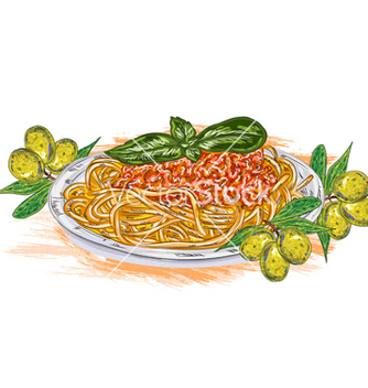 Free spaghetti whith tomato sauce vector - Free vector #243343