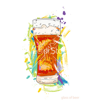 Free glass of beer vector - Kostenloses vector #243353